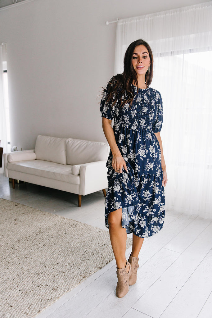 MARYDAWN DRESS IN NAVY