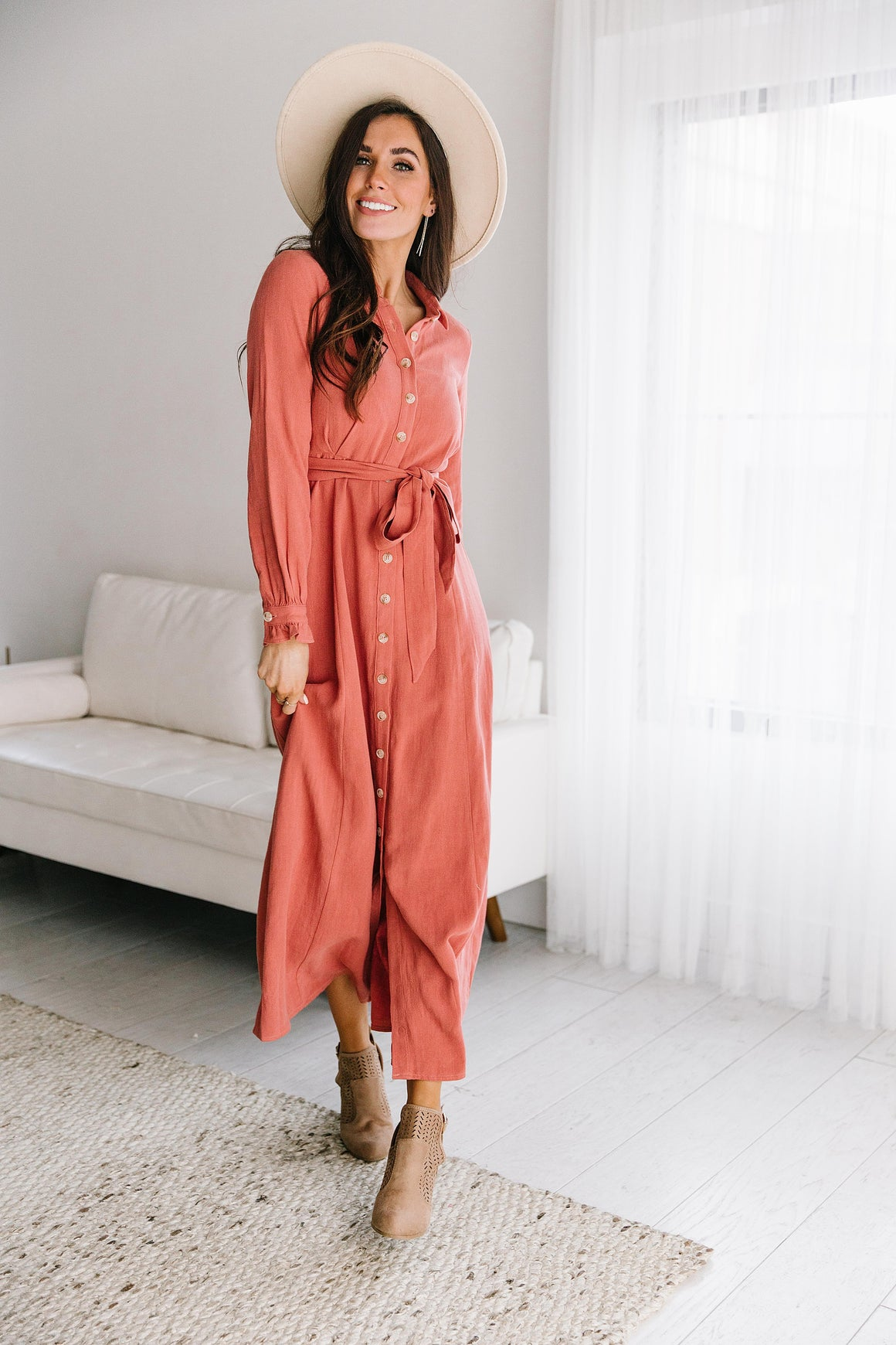 LISSI BUTTON DOWN MAXI