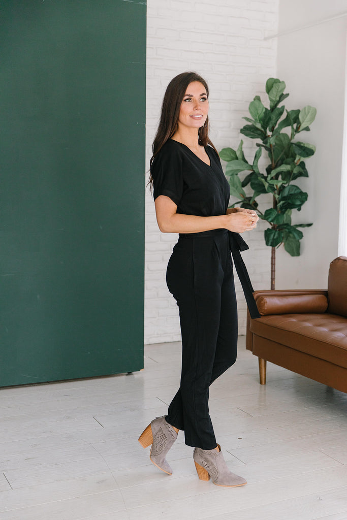 MONET JUMPSUIT IN BLACK