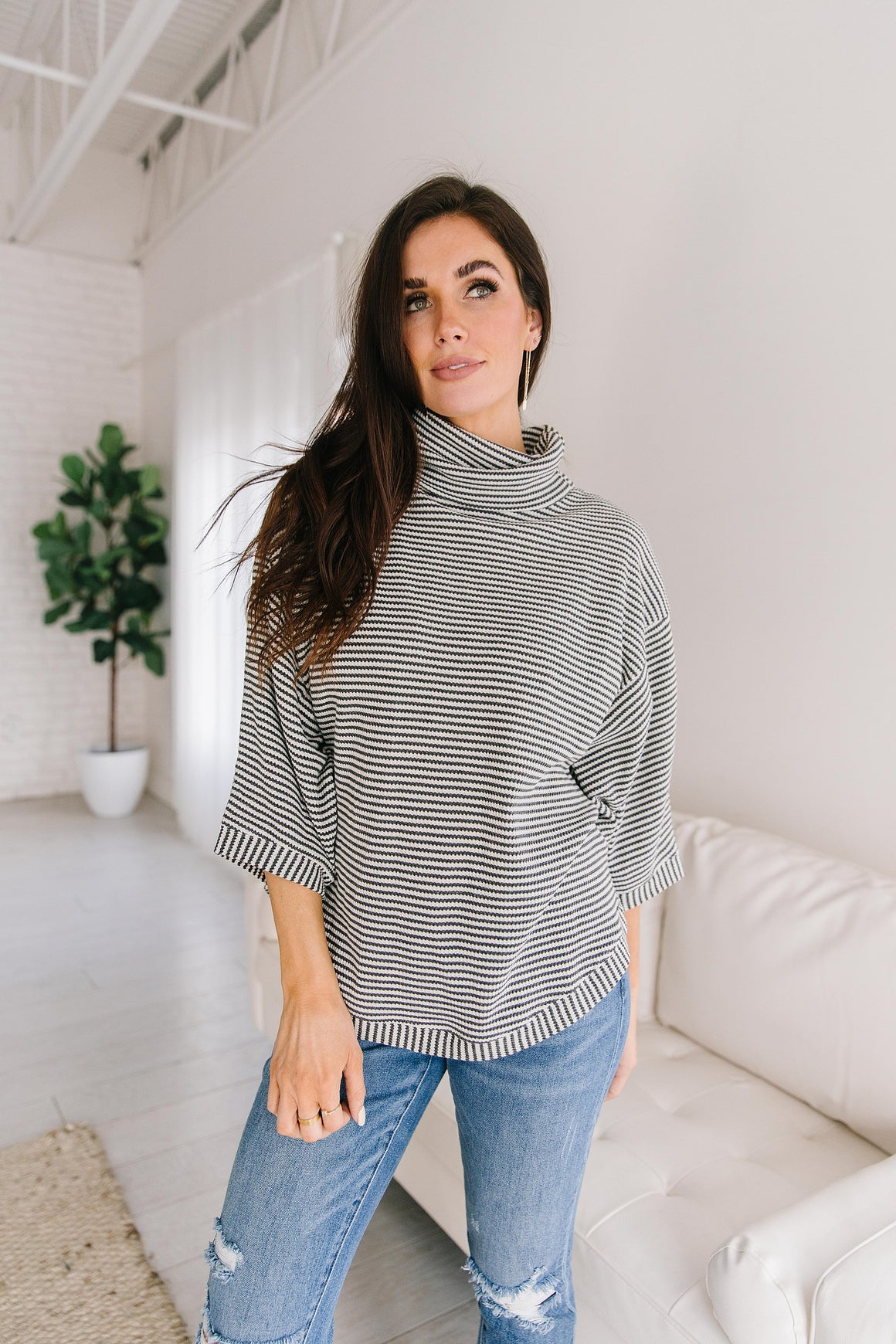 ANDREA STRIPED TOP