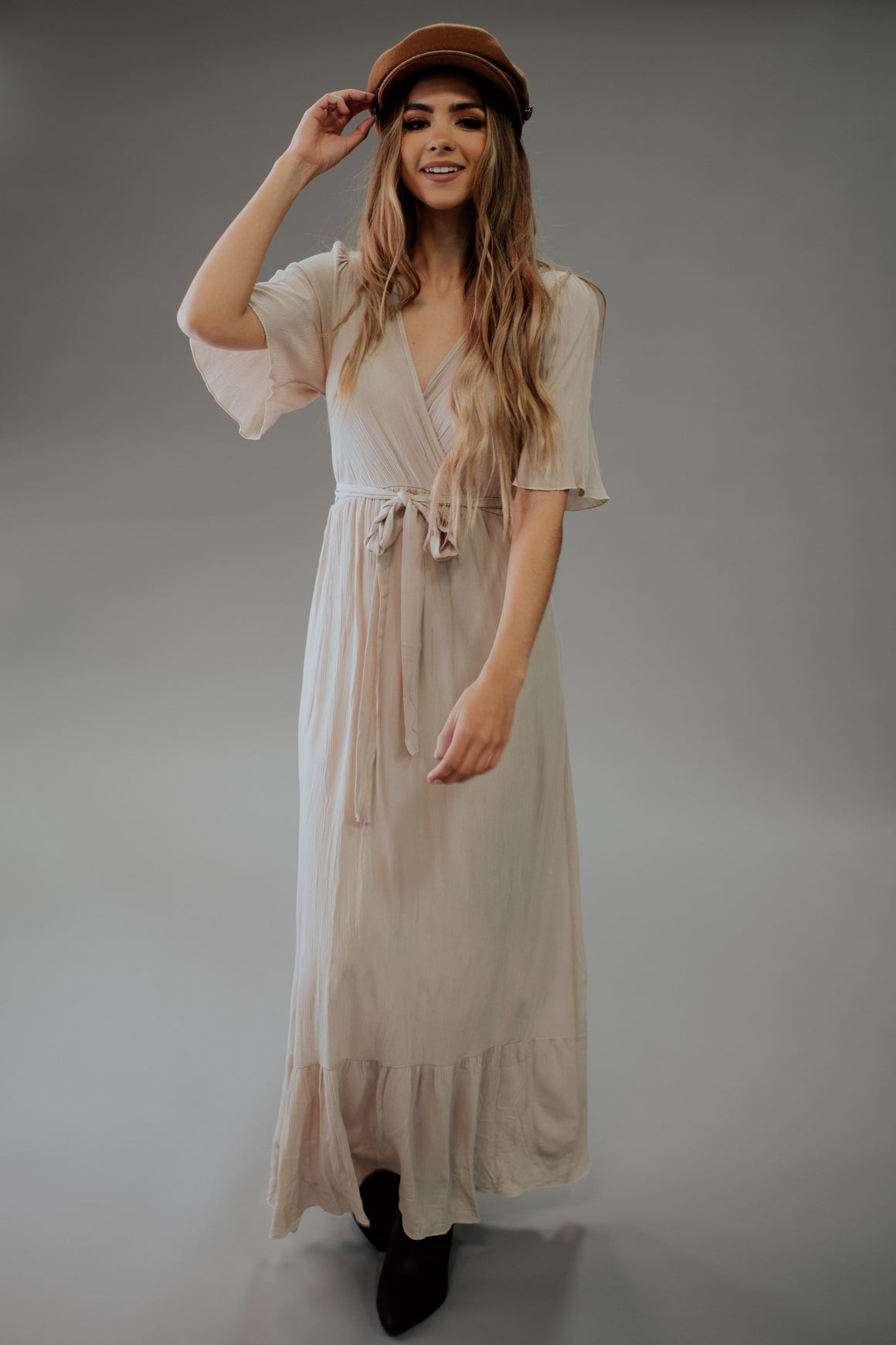 JILL MAXI DRESS WITH CRISSCROSS FRONT
