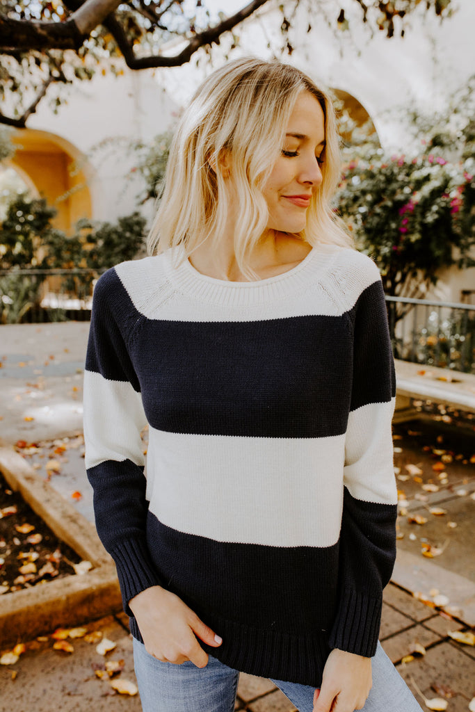 BECCA NAUTICAL BLOCK SWEATER