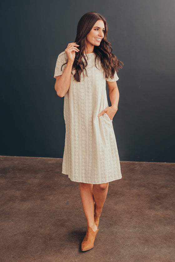FIONA DRESS IN CREAM