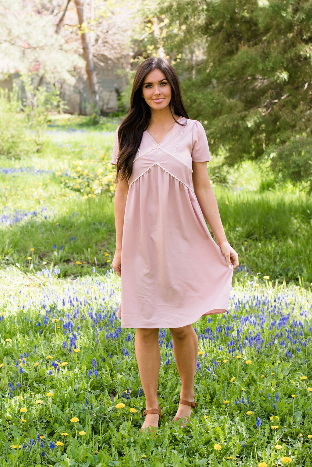 ROSA MIDI DRESS IN BLUSH