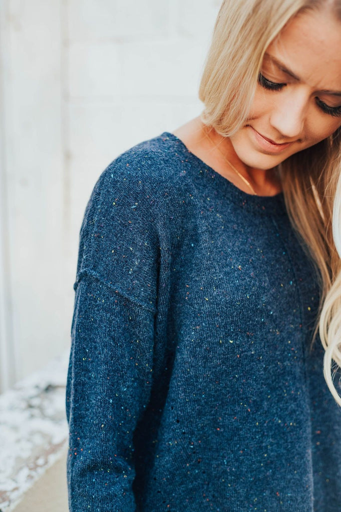Mia Sweater In Navy - Sweater