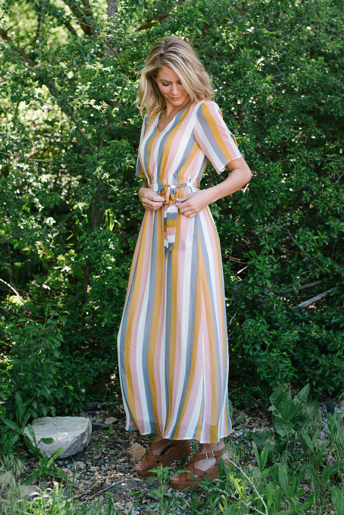 SHERRIE MULTI-COLORED MAXI DRESS