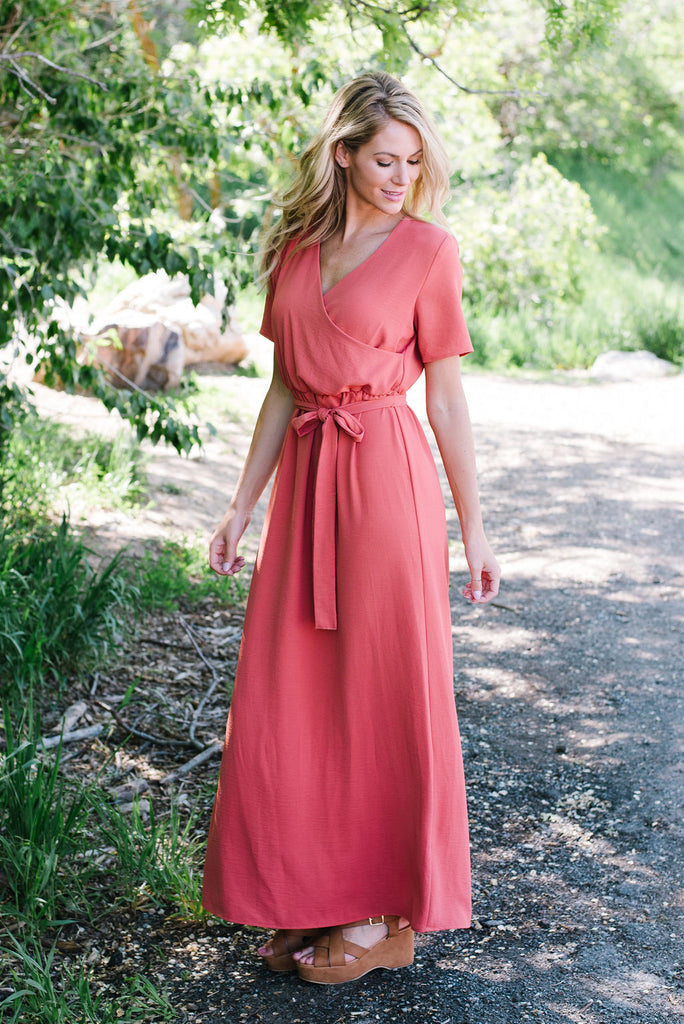 BRITTNEY MAXI  DRESS IN MAUVE