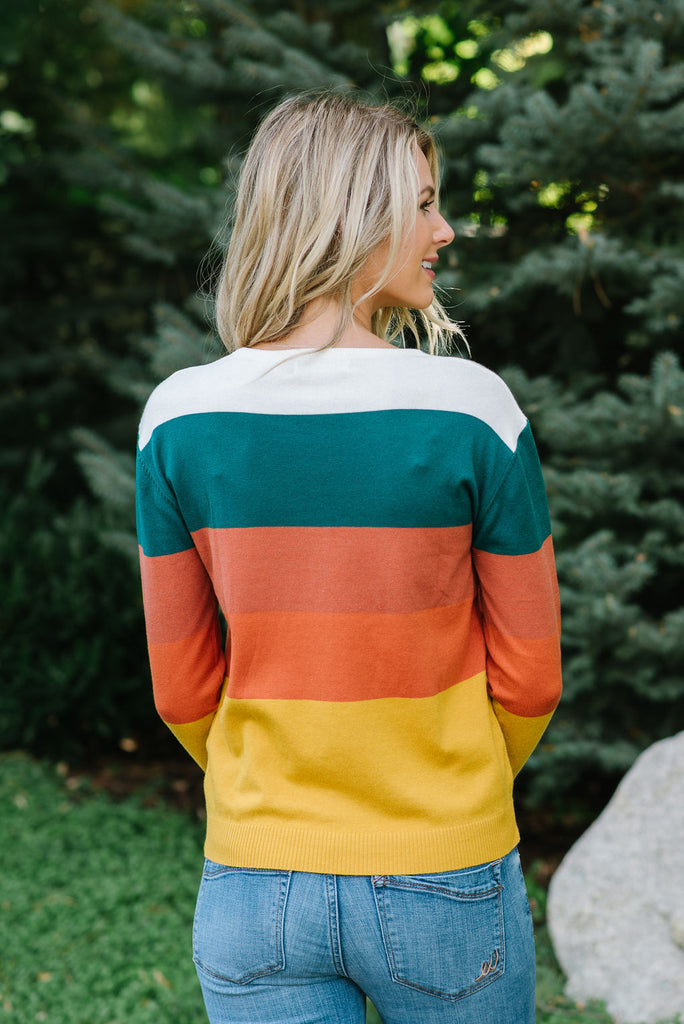 SIENNA MULTI-COLOR BLOCK SWEATER