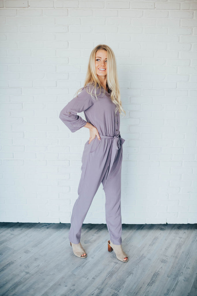 CASSIE JUMPSUIT IN PALE PLUM
