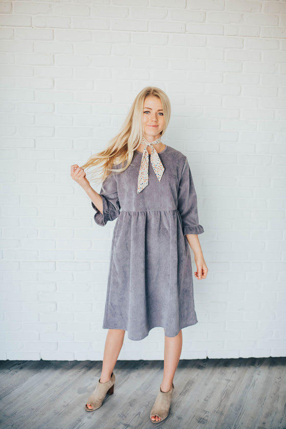 KARIE CORDUROY DRESS