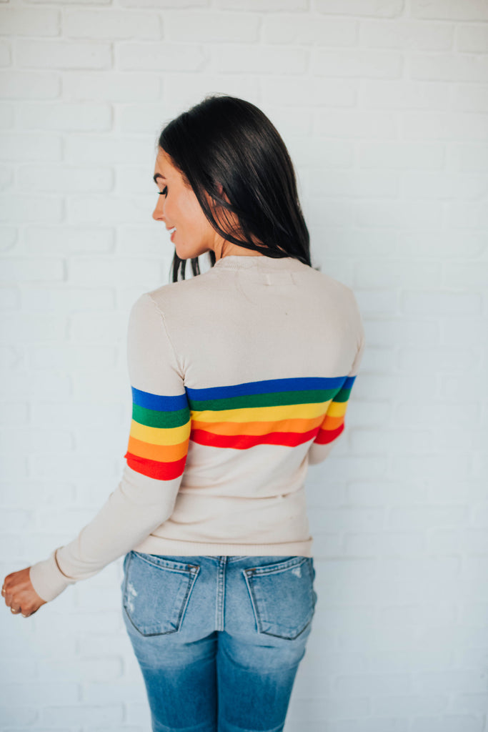 ARDEN RAINBOW SWEATER