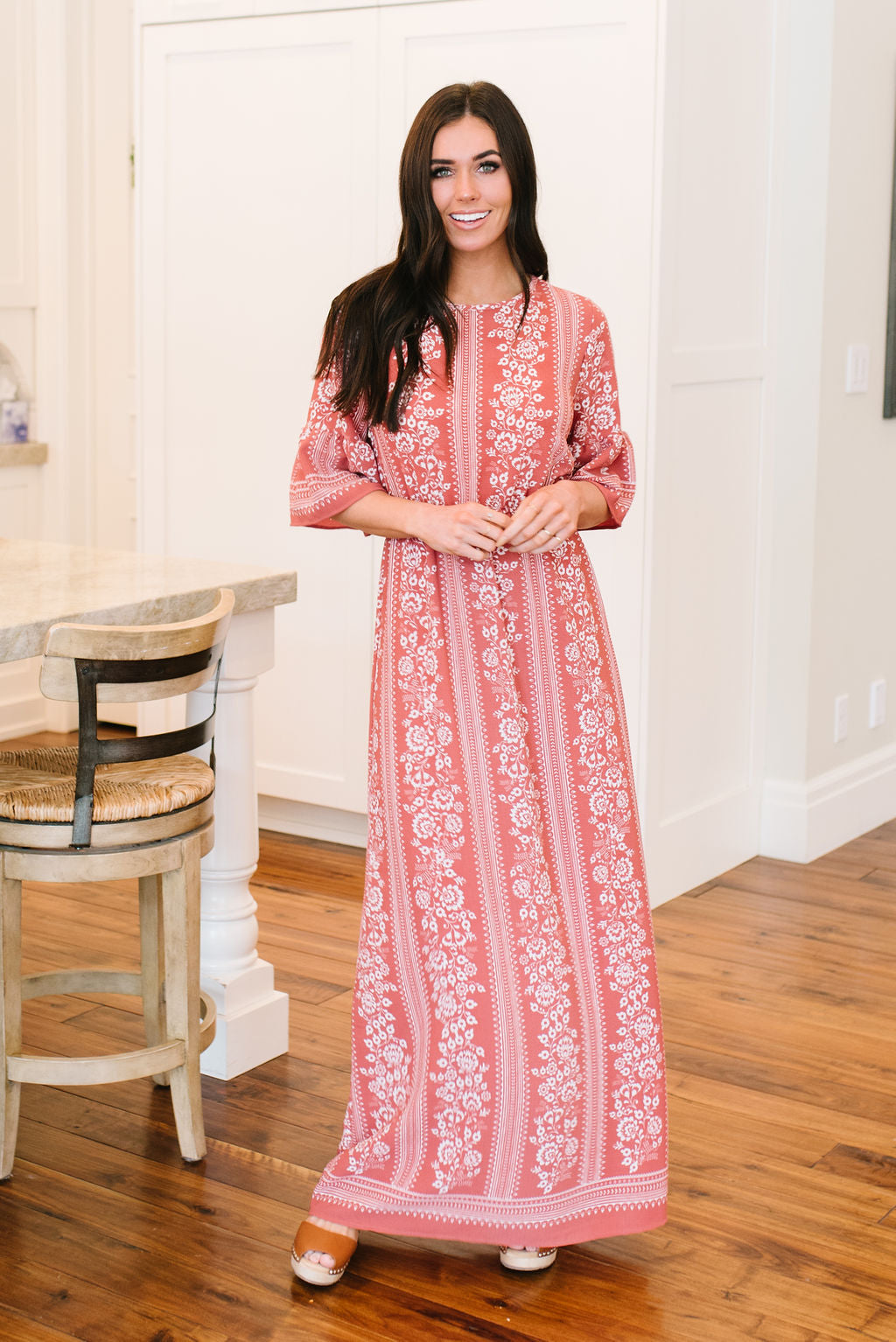 346f5a82333 ALLIE FLORAL MAXI IN DUSTY ROSE