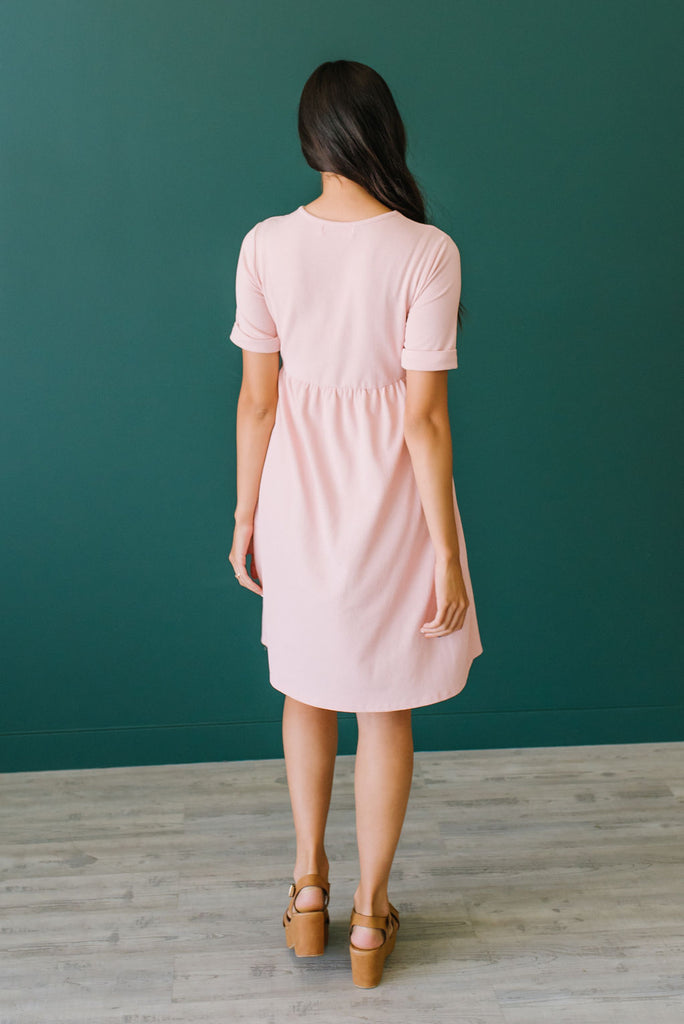 NANCY MIDI DRESS IN PINK
