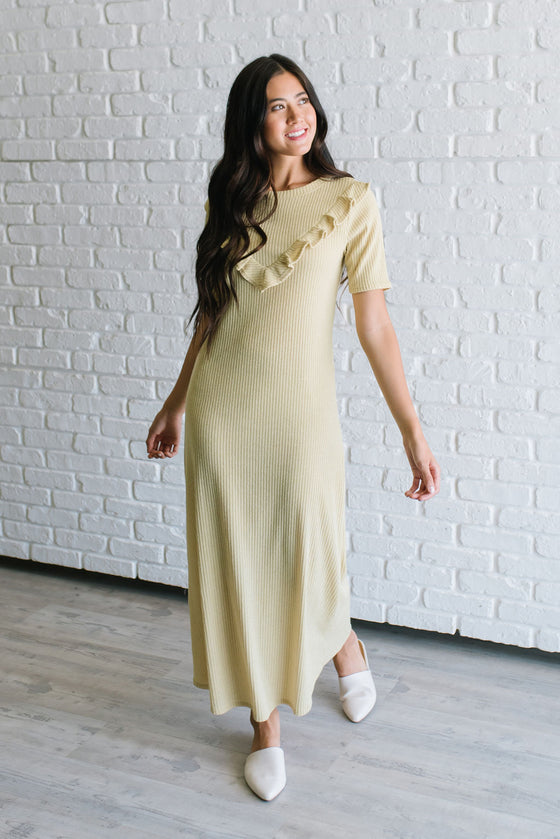 BRINLEY MAXI SWEATER DRESS IN CITRUS