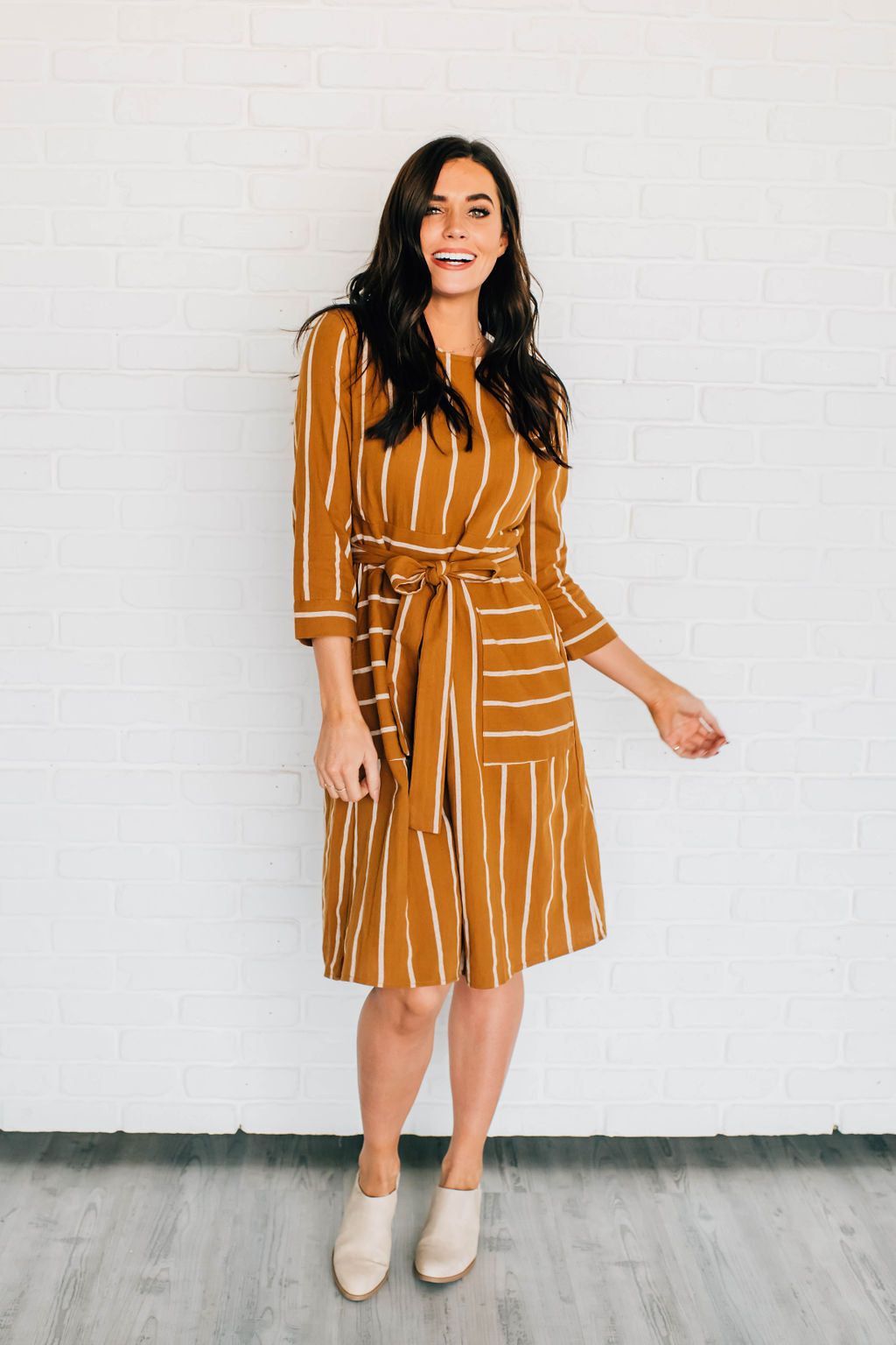 STEPHANIE DRESS IN COPPER