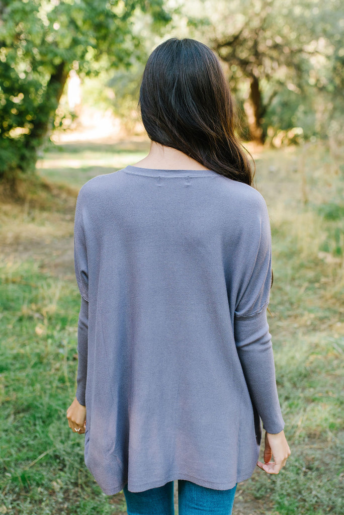 MAREN OVER-SIZED SWEATER IN NIGHTSHADE