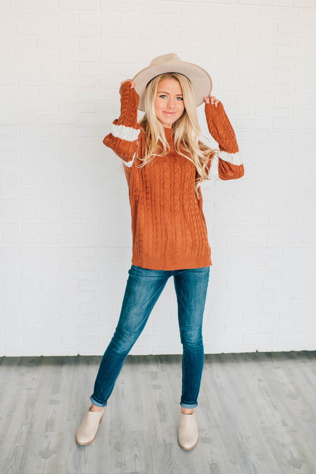 EMERY CABLE-KNIT SWEATER
