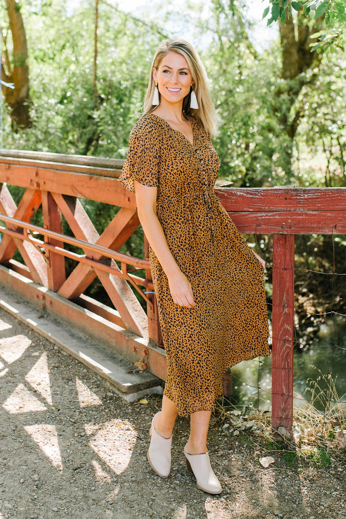 ANGIE DRESS IN CAMEL