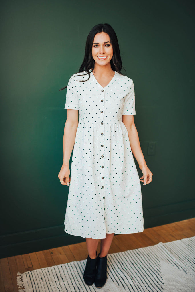 TRACIE DOT DRESS