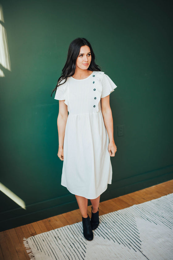 JASMINE PINSTRIPE DRESS
