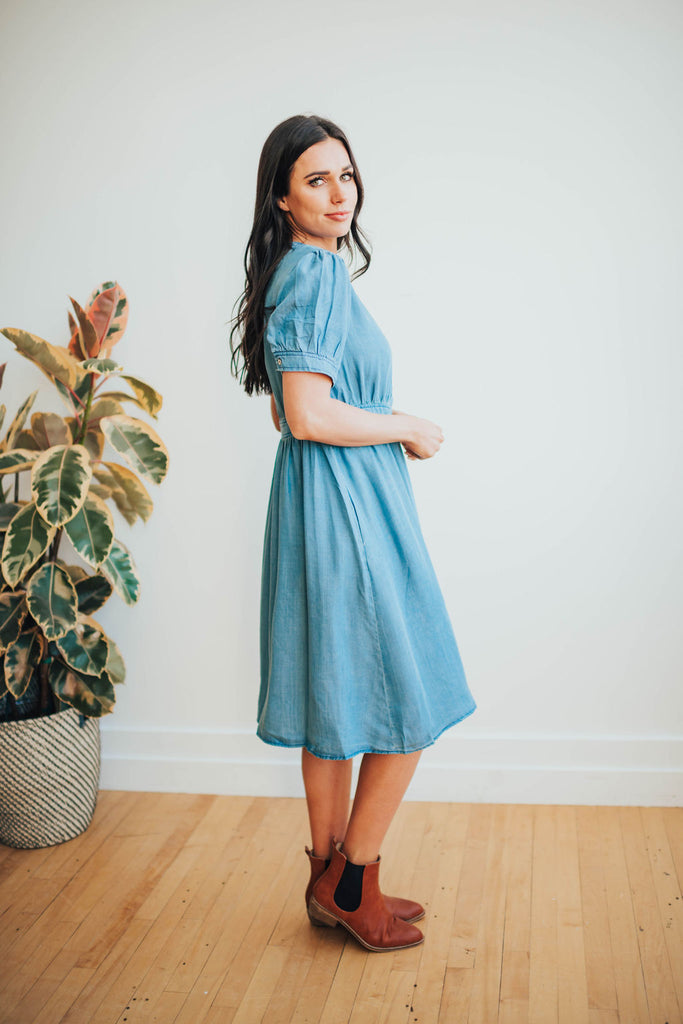 MELINDA DENIM DRESS