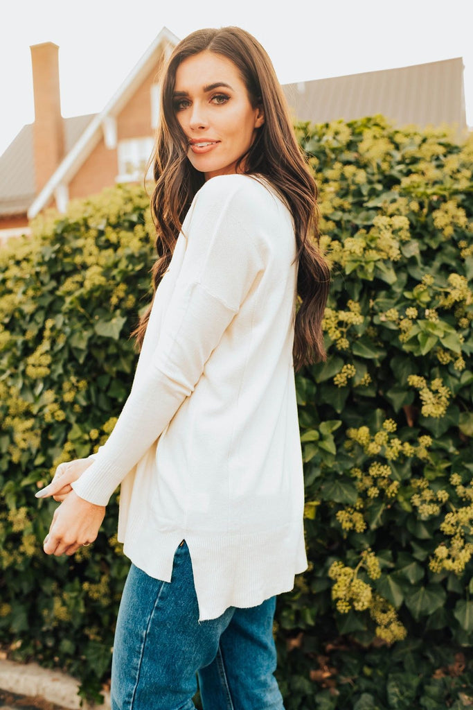 Staci Sweater In Ivory - Top