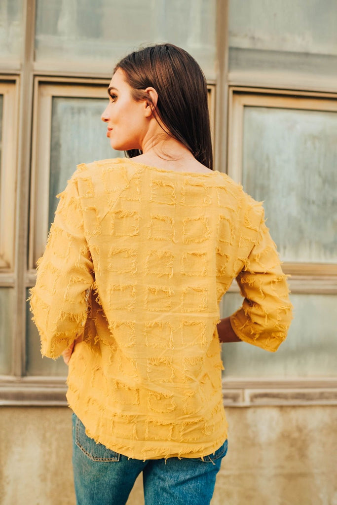 Mylie Top In Mustard - Top