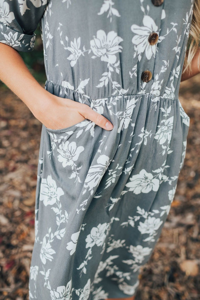 Grace Dress In Grey - Dress
