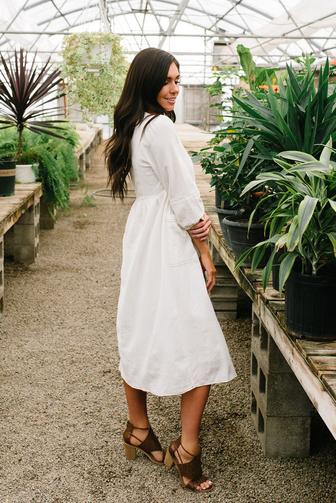 JUNE DRESS IN IVORY