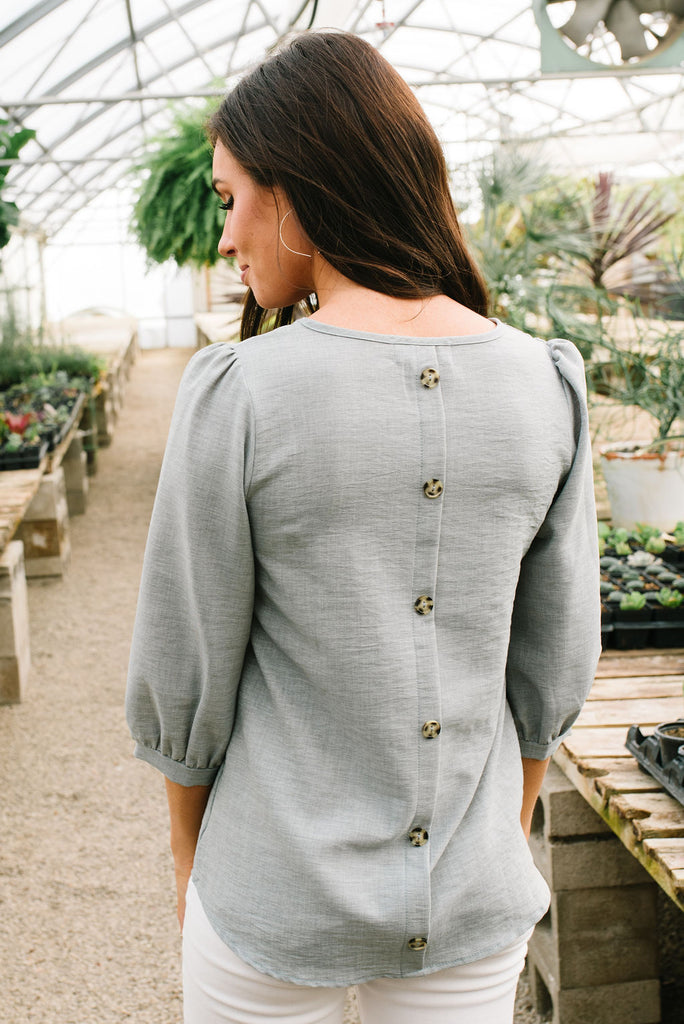 LILY BUTTON BACK IN SLATE BLUE