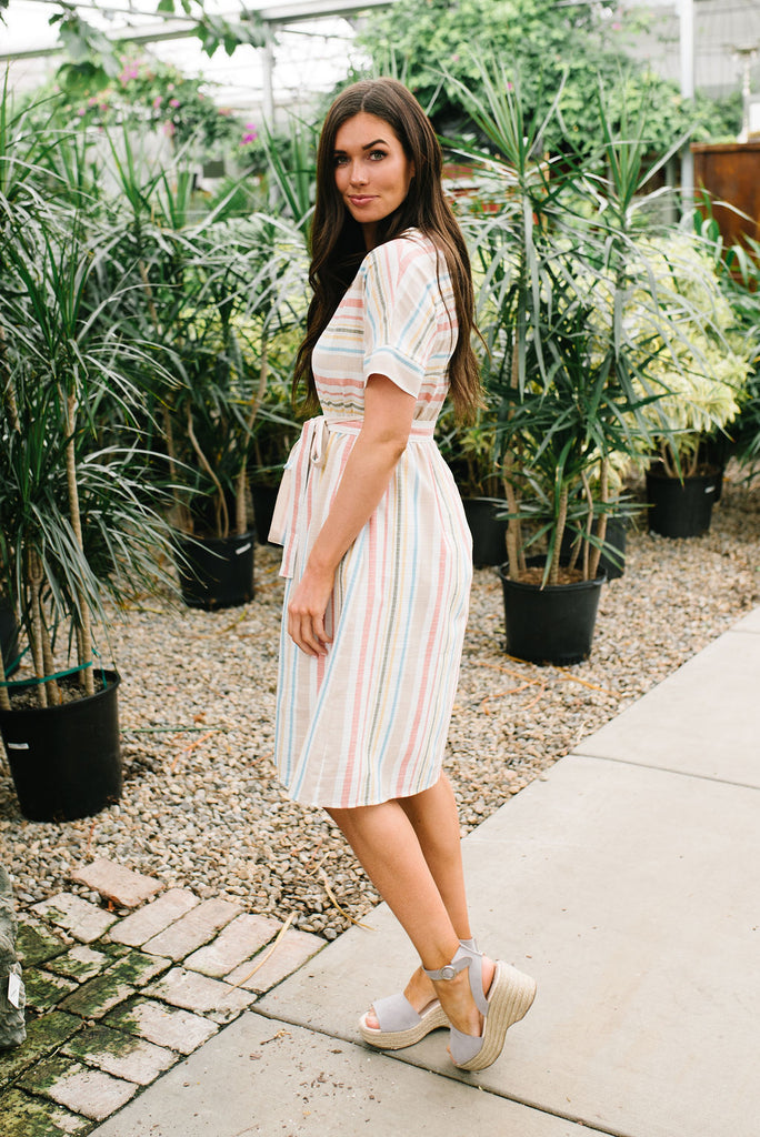 MARIA MULTI-STRIPED DRESS