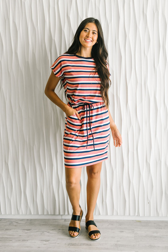 CATALINA STRIPED TEE DRESS