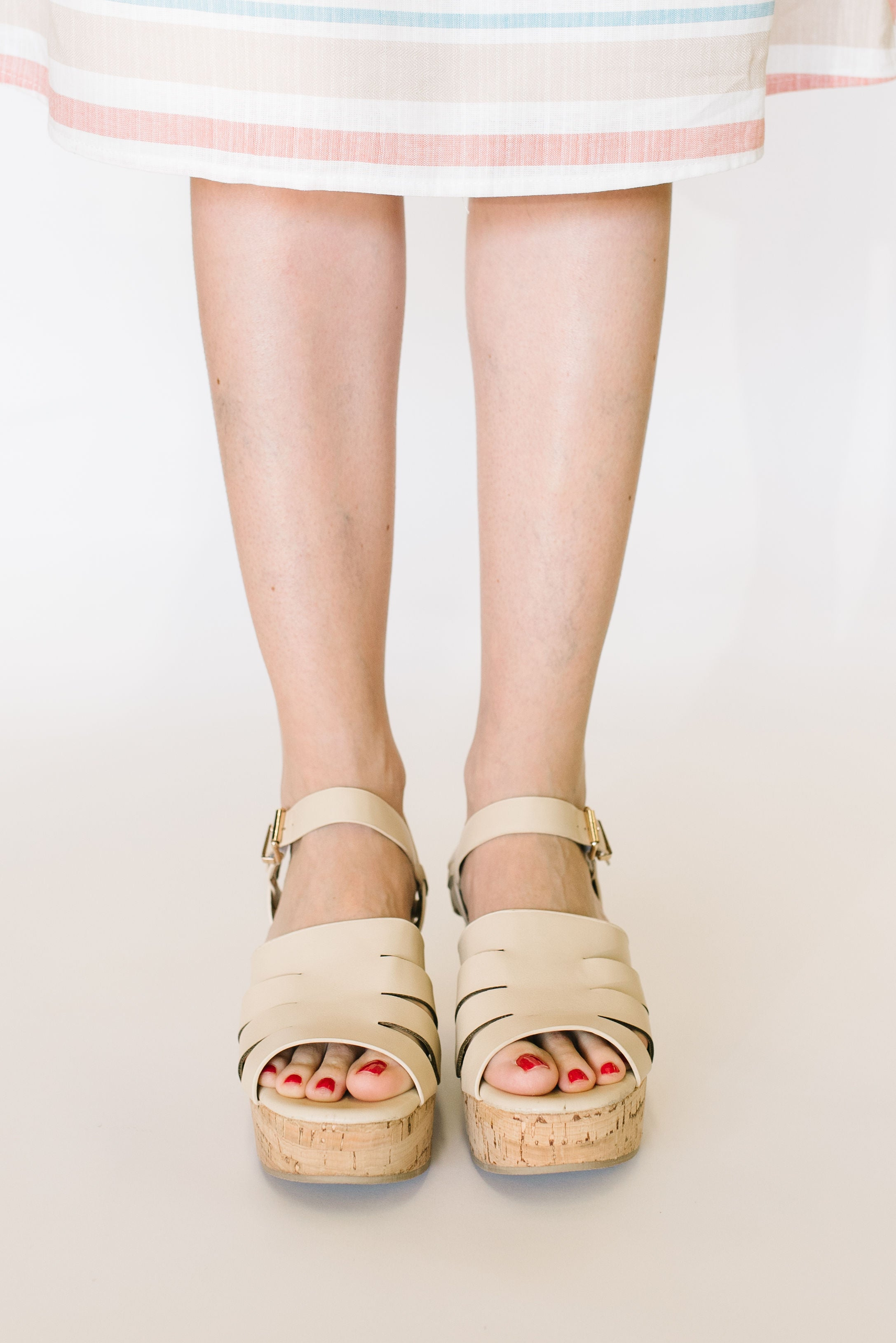 1f3fe4f6e32 LOGAN STRAPPY SANDAL IN NUDE - Citrus   Lemon