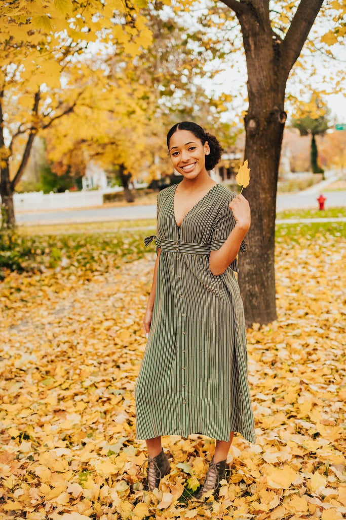 Kristy Dress In Olive - Dress