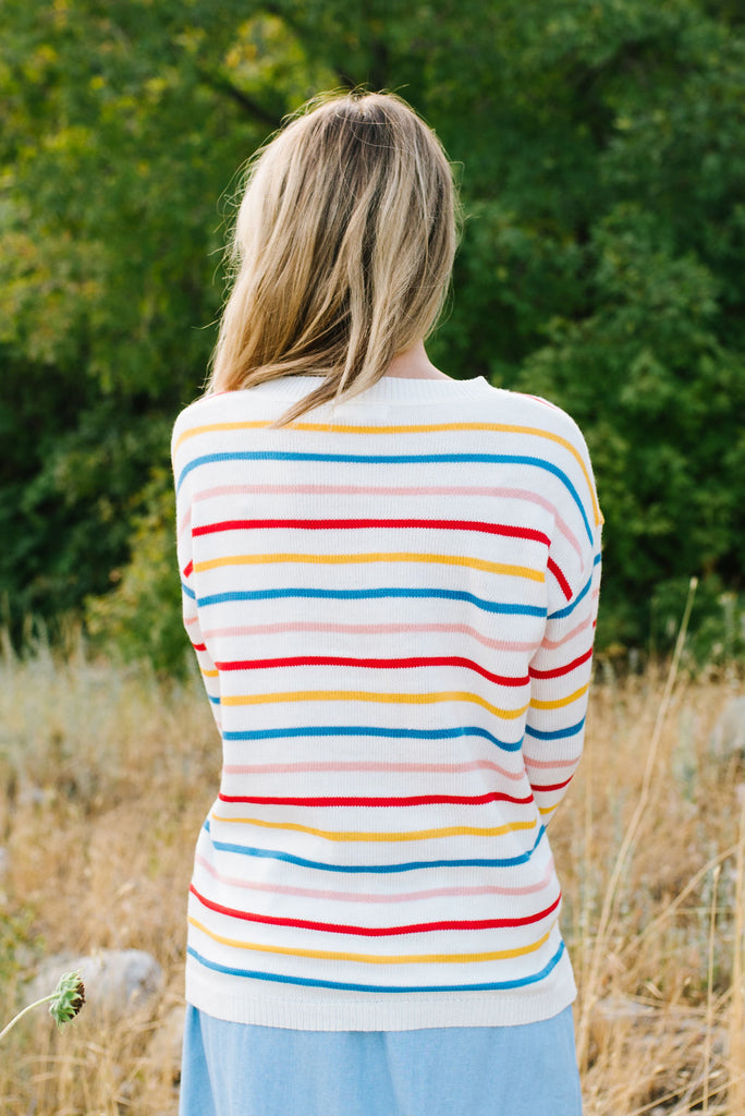 MCREE COLORFUL STRIPED SWEATER