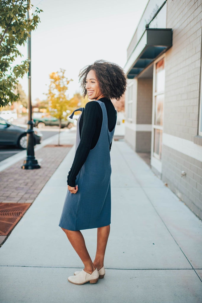 Necie Jumper In Grey - Dress