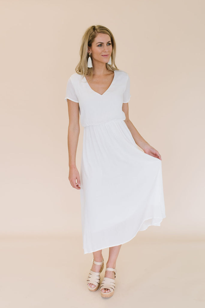 SABRINA MIDI DRESS IN WHITE