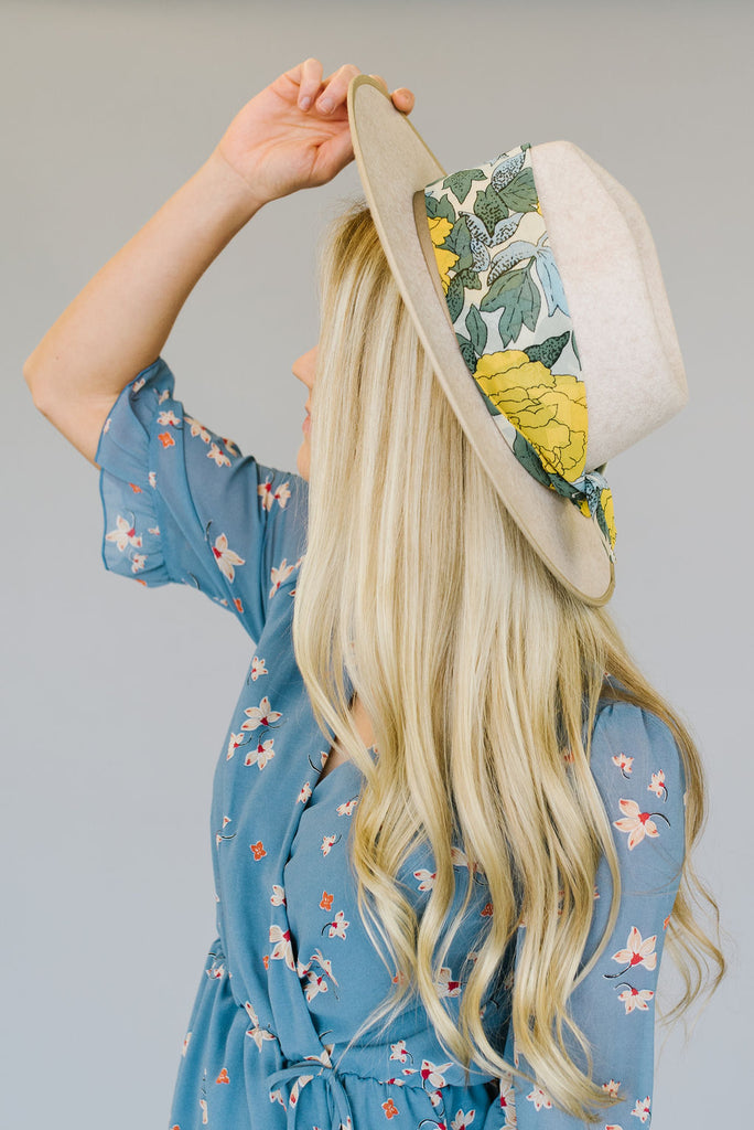 YELLOW FLORAL HAIR SCARF