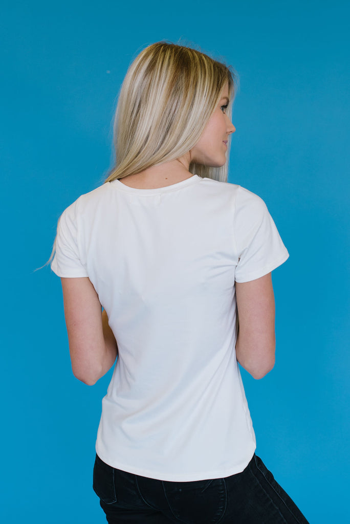 BASIC TEE IN IVORY