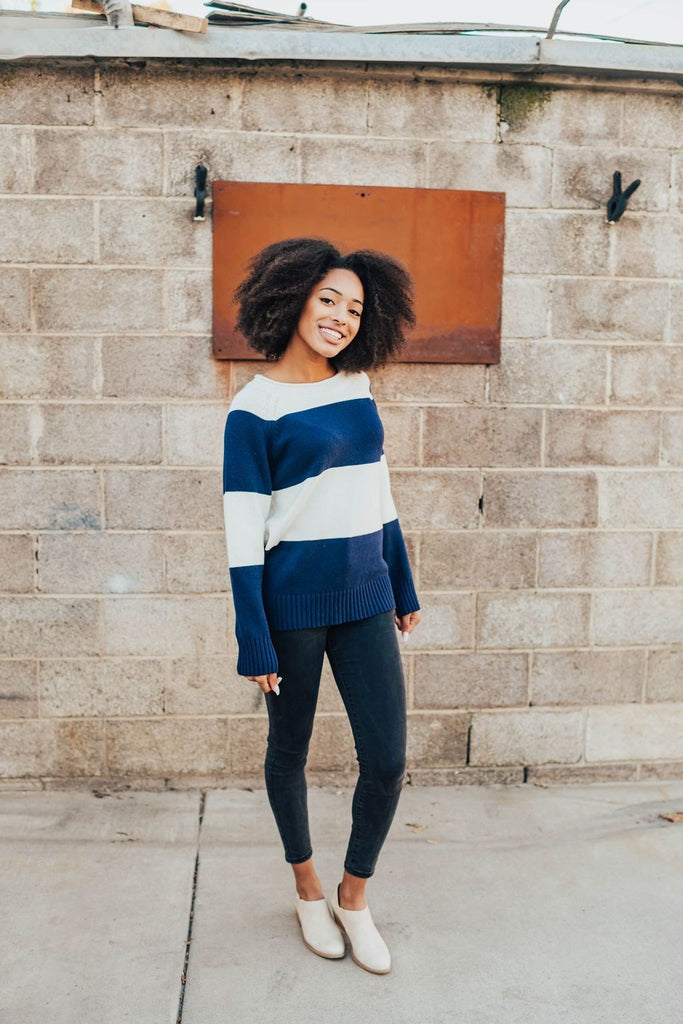 Becca Nautical Block Sweater - Sweater
