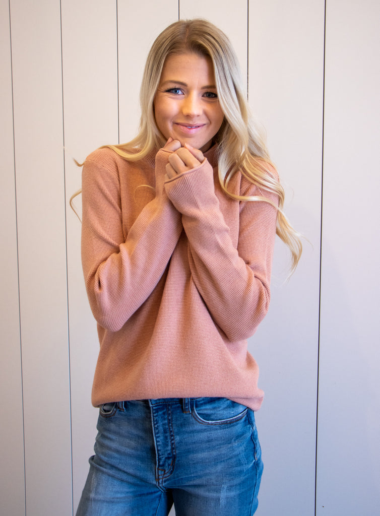 BRYNN TOP IN SALMON
