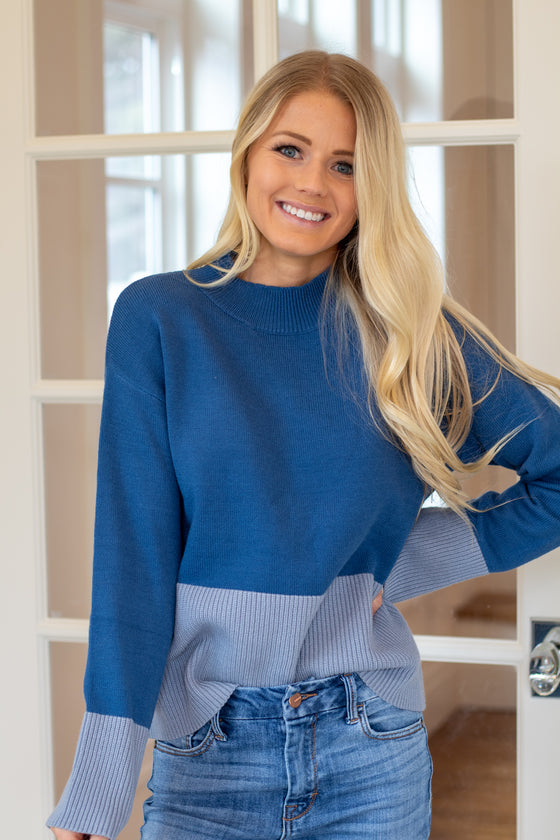 DIANE SWEATER IN DARK BLUE