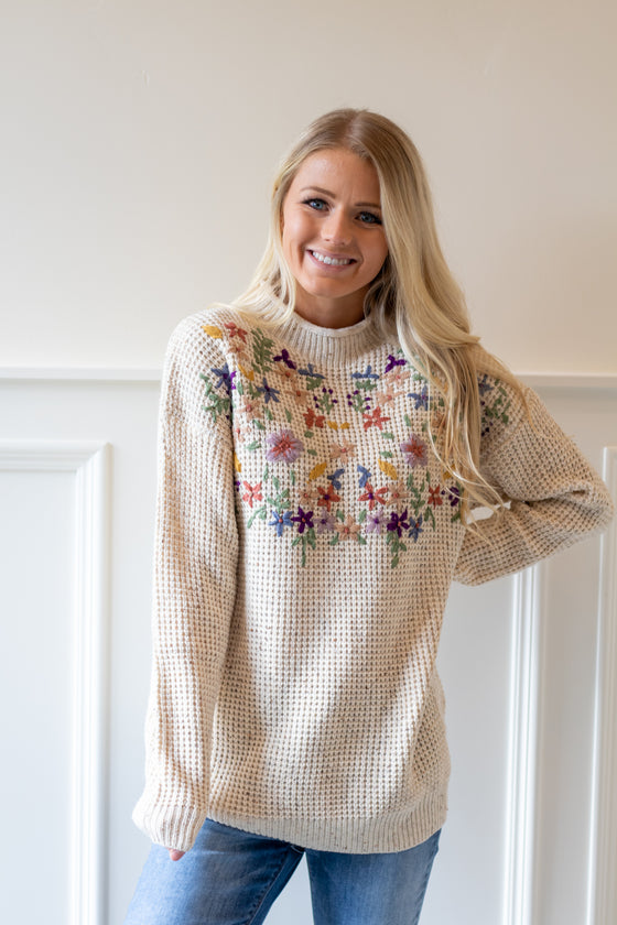 MONROE EMBROIDERED SWEATER