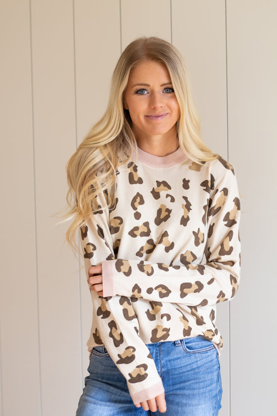 ASHLYN CHEETAH SWEATER