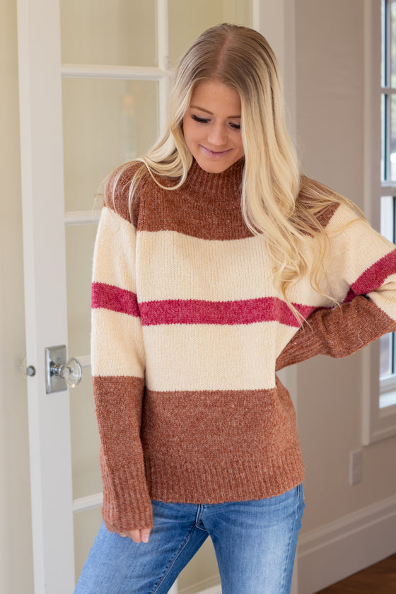 JOELLE BLOCK SWEATER