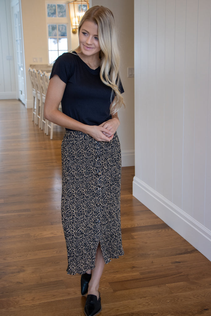 CLAIRE SKIRT IN CHEETAH
