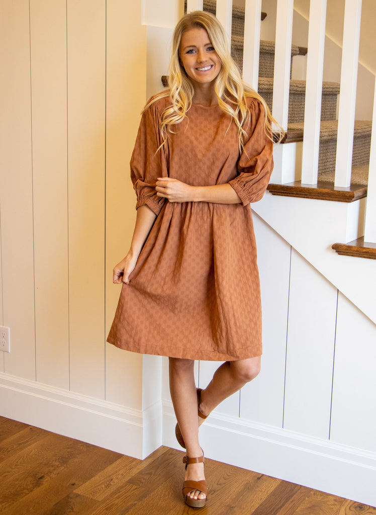 BRITTA DRESS IN RUST