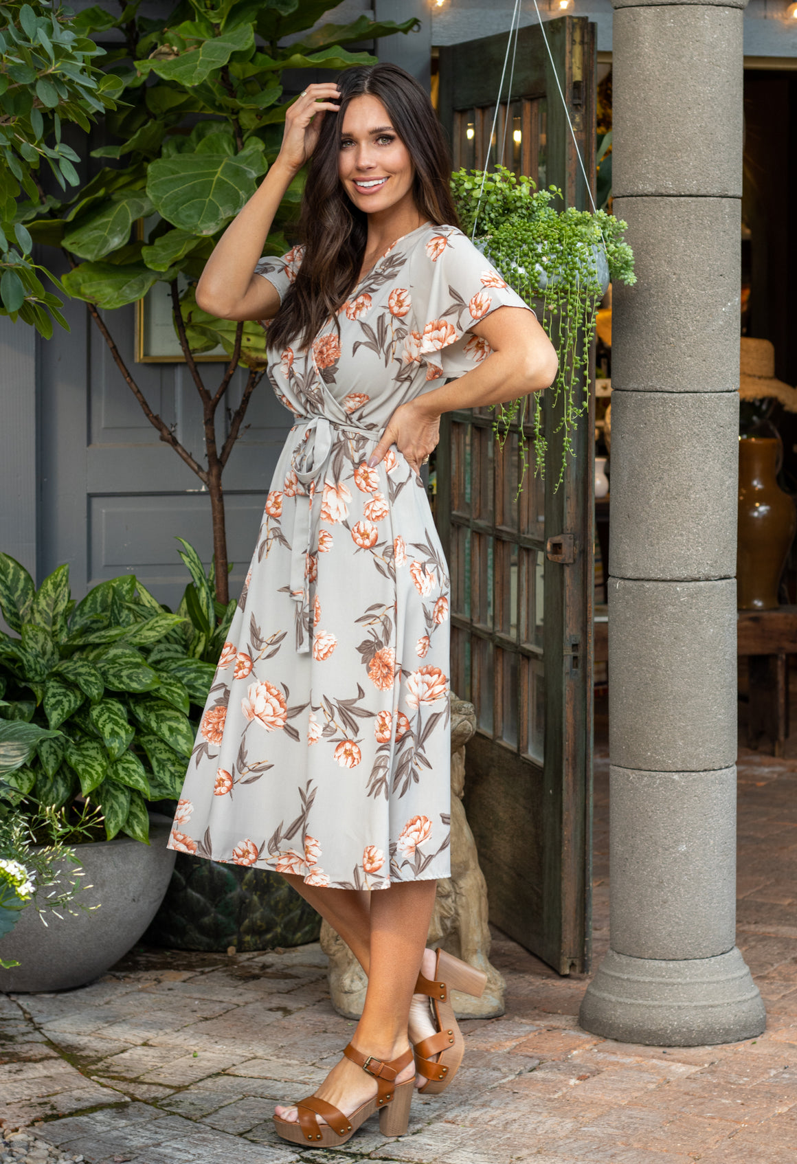 ISABELLA DRESS IN TAUPE