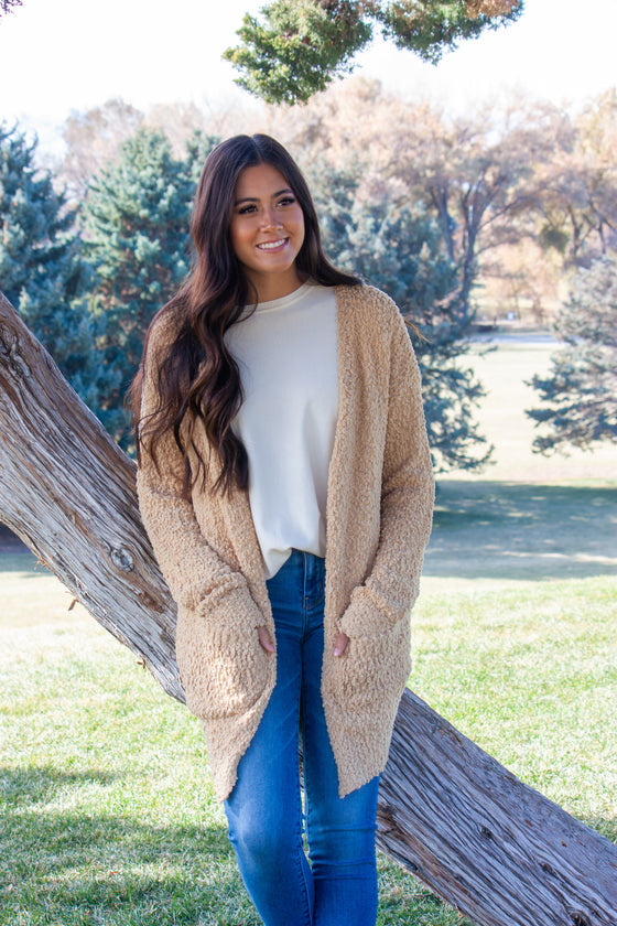 TILLY-LIGHT MUSTARD CARDIGAN SWEATER