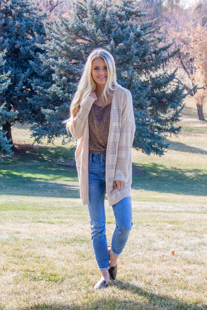 ELISE-SWEATER CARDIGAN IN OATMEAL